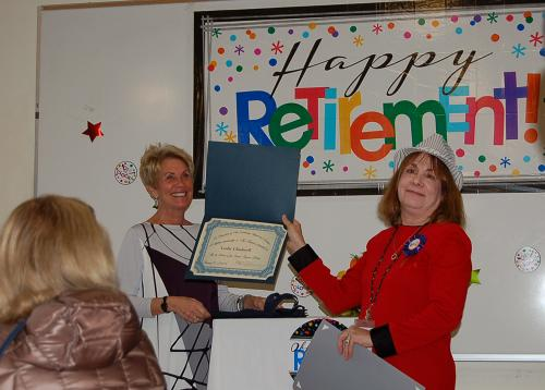 Certificate from Friends of Encino-Tarzana Branch, presented by the Friends' President